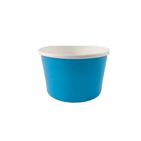Ice cream paper cups 4 oz. (Case Of 1000 pcs BLU ) Perfect For Eating Frozen Desserts, Ice Cream, Frozen Yogurt, Cereal, Hot Soups, Yogurt