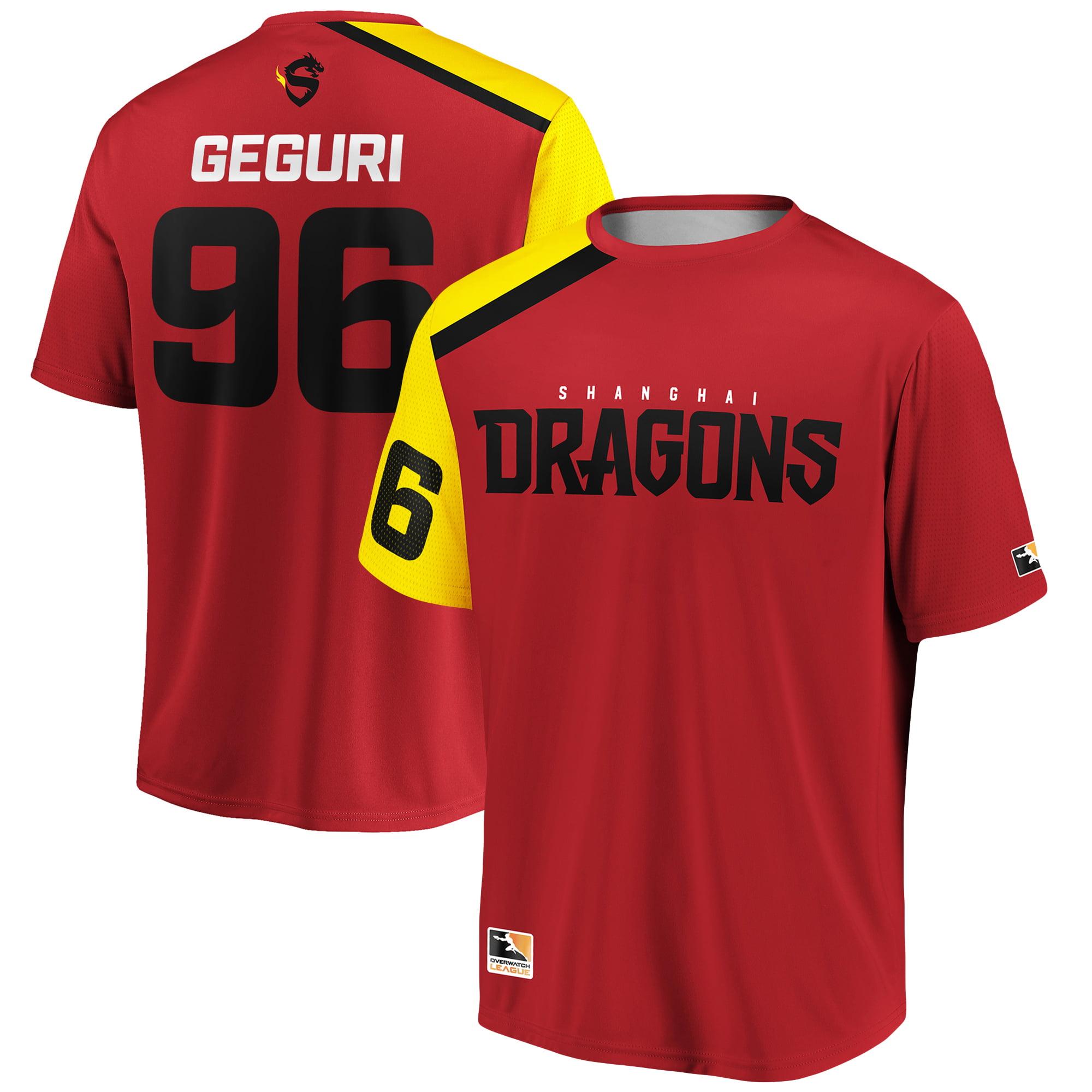 Geguri Shanghai Dragons Overwatch League Replica Home Jersey - Red