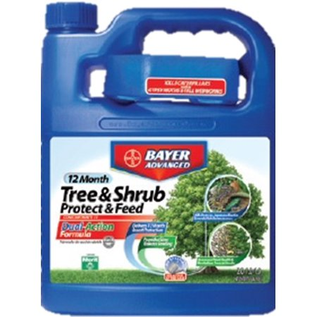 Bayer Advanced Tree & Shrub Protect & Feed 64 oz Concentrate for Aphids, Japanese Beetles, Whitefly & Emerald Ash (Cont Feed)