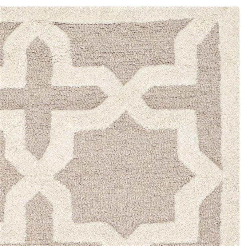 Safavieh Cambridge 8' X 10' Hand Tufted Wool Rug in Beige and Ivory - image 2 de 3
