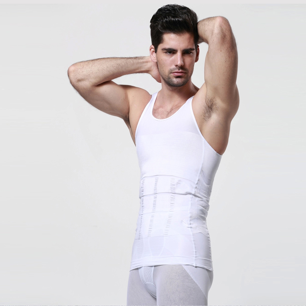 Image Men Sleeveless Slimming Compression Shirt Vest Tank Under