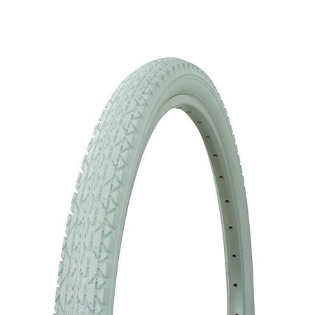 Wanda Diamond Tread Bicycle Tire White Wall 26 x 2.125, for Beach Cruiser Bikes, Various Colors (White)