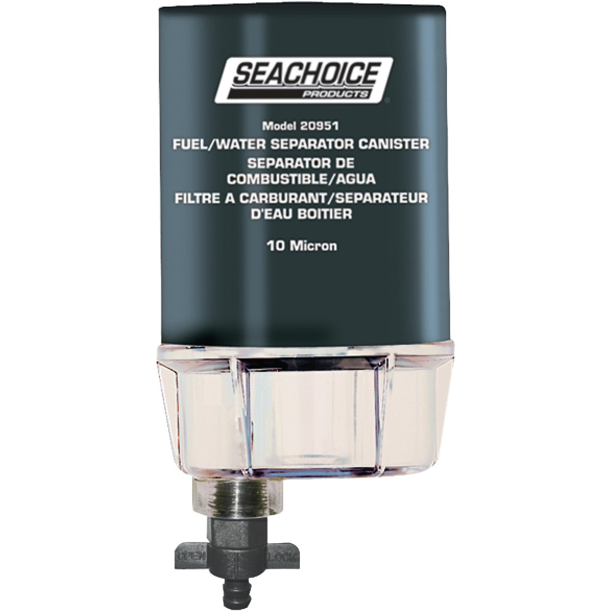 Seachoice 10 Micron Fuel/Water Separating Filter with See-Thru Plastic Bowl  for Outboards - Walmart.com