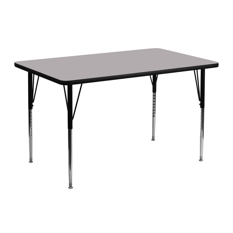 Rectangle Adjustable Height Activity Table Thermal Fused Laminate Top - Standard Legs