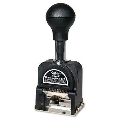 6 Wheel Numbering Machine (Royall Economy Numbering Machine, Six Wheels, Pre-Inked/Re-Inkable, Black )