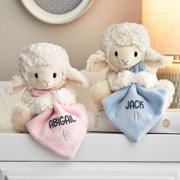 Personalized Jesus Loves Me Musical Lamb - Available in Blue or Pink