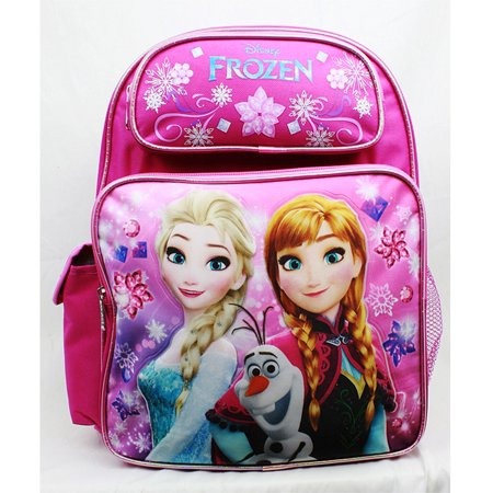 Medium Backpack - Disney - Frozen - Elsa Olaf & Anna Pink New A08148PK
