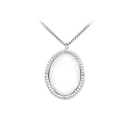 Sterling Silver White Agate and Cubic Zirconia Pendant 15.08 CT TGW - image 2 de 3