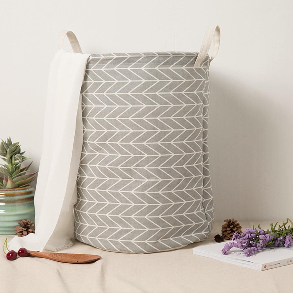Laundry Bag Basket Foldable Hamper Dirty Cloths Toy Storage Organizer Hamper Bin Bag Basket Cotton Linen