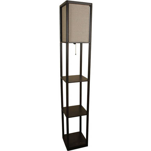 Mainstays Shelf Floor Lamp with Shade - Walmart.com