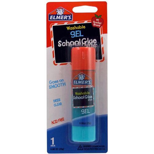 Elmer's Washable Gel School Glue Stick 0.88 oz (Pack of 2)
