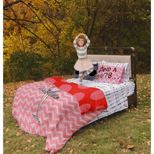 Where the Polka Dots Roam Ballerina / Brake Dancer Duvet Cover Set