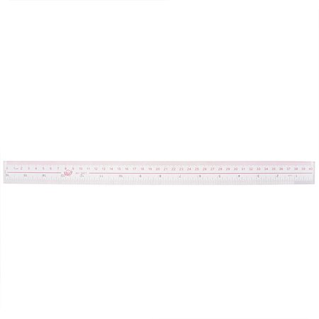 Metric Range (Clear Plastic Inch Metric 40cm Measure Range Straight Ruler Measuring)