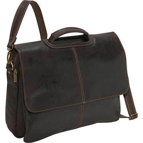 Le Donne Leather Laptop Distressed Leather Briefcase