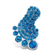 Puzzled Foot Refrigerator Sparkling Magnets with Crystals - Beach Theme - Unique Affordable Gift and Souvenir - Item #7200