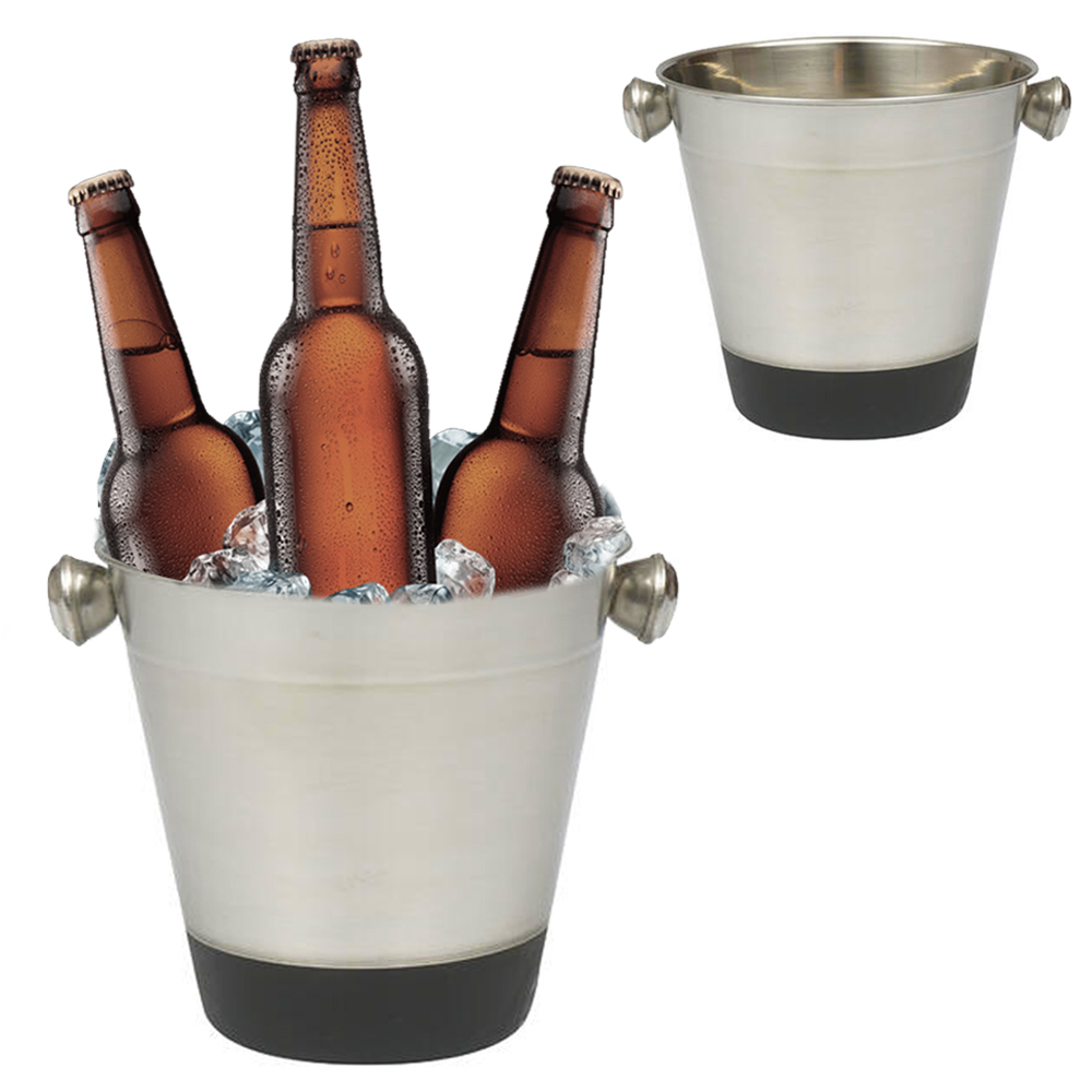 6 Set Stainless Steel Ice Bucket Cooler Champagne Wine Bar Restaurant Drink 40oz