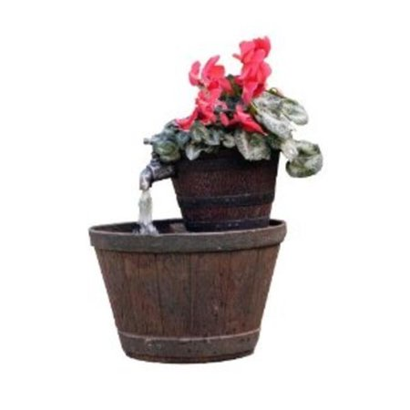 Exaco Trading Fm 0200 Endura Clay Whiskey Barrel Planter