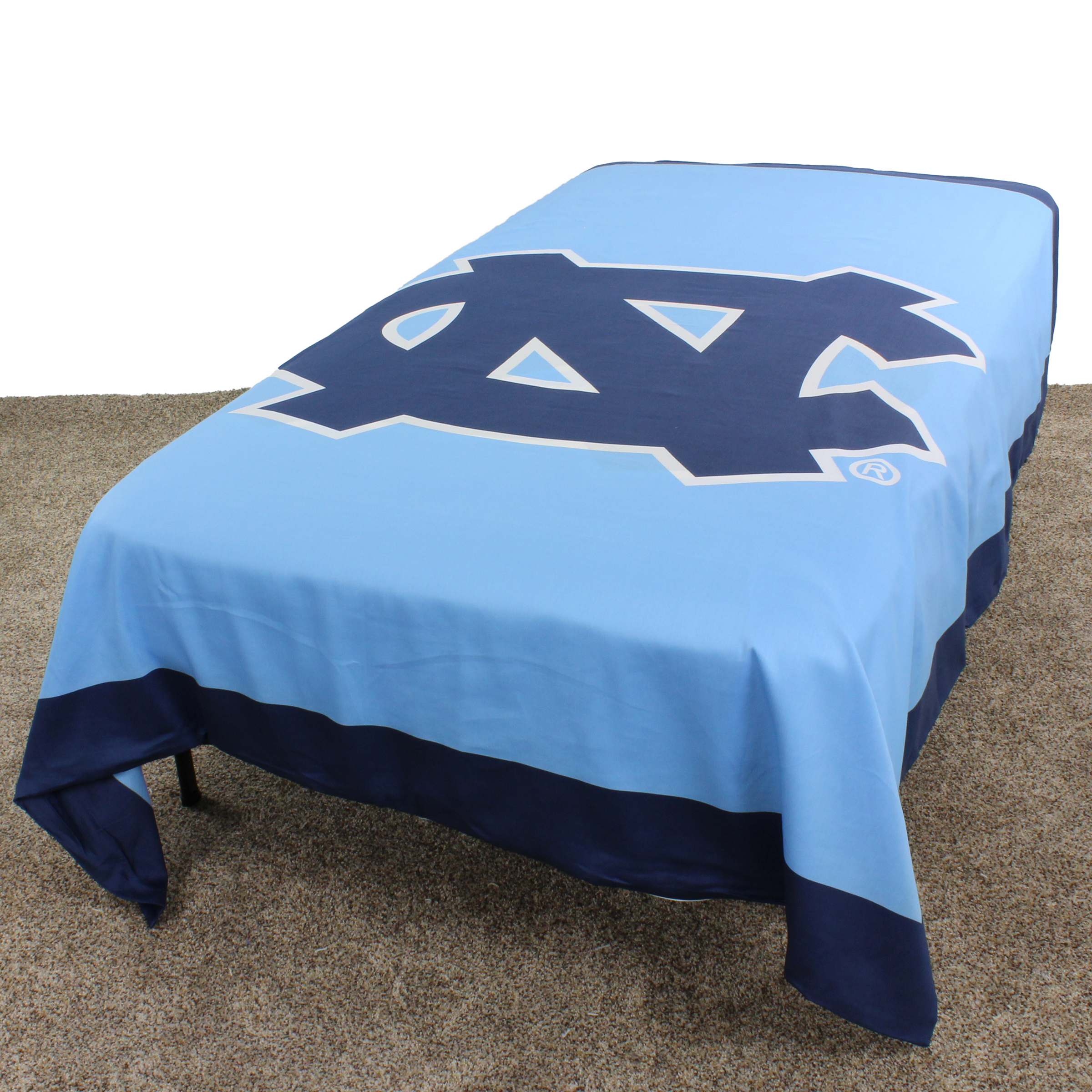 "North Carolina Tar Heels Duvet Cover / Summer Blanket, 2 Sided Reversible, 100% Cotton, 68"" x 86"", Twin"