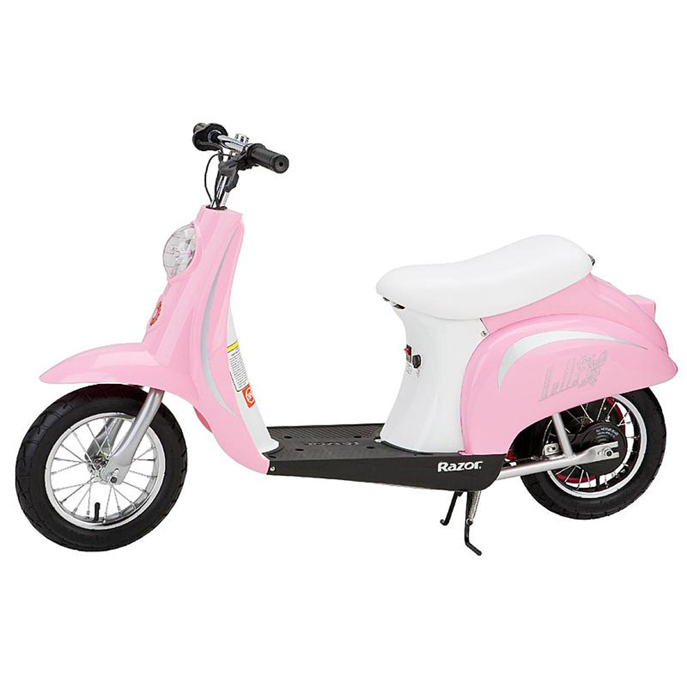 Razor Pocket Mod Miniature Euro 24 Volt 250 Watt  Electric Retro Scooter, Pink