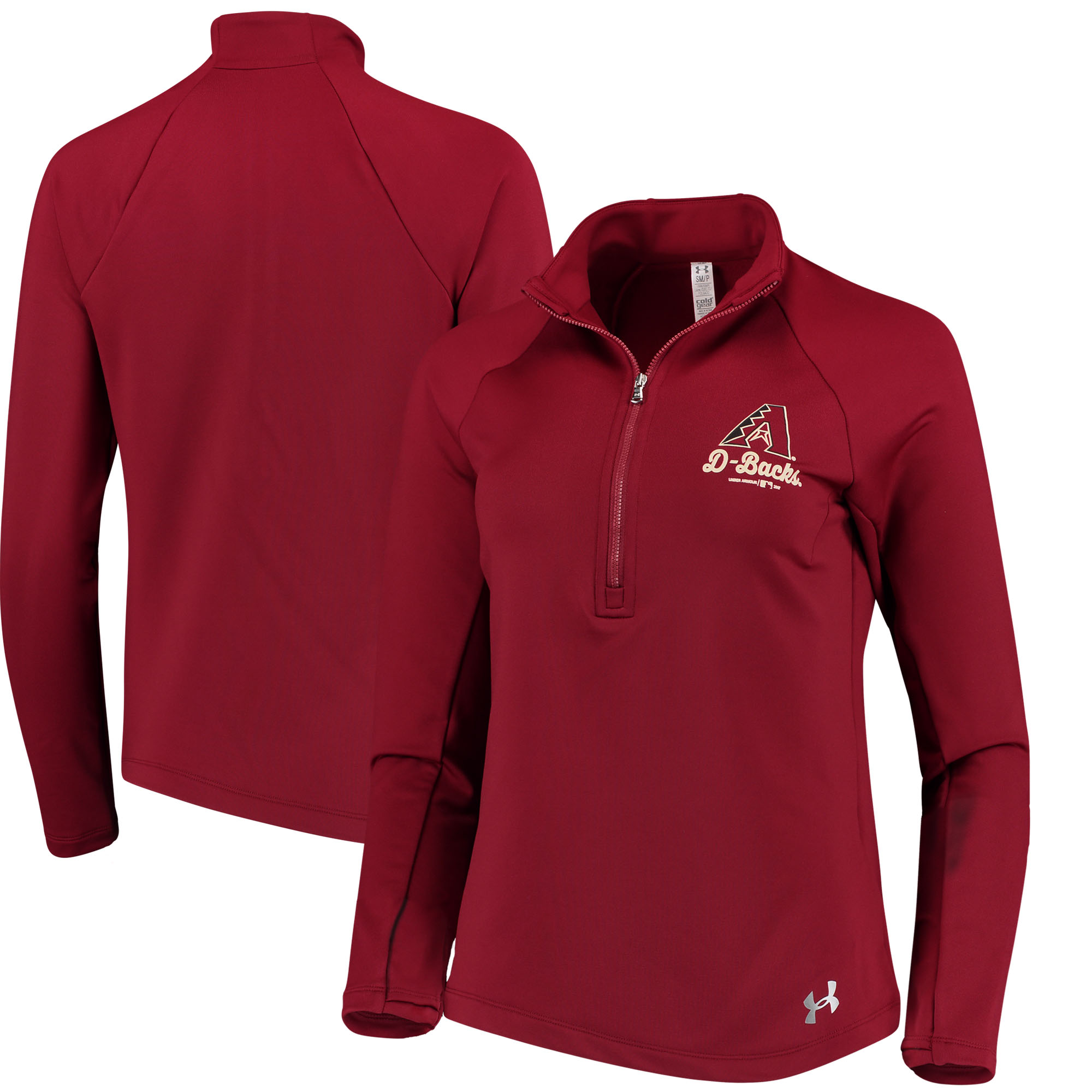 Arizona Diamondbacks Under Armour Women's Team Logo Half-Zip Performance Jacket - Crimson