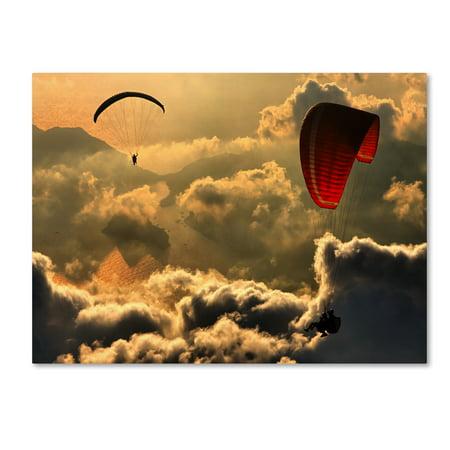 Trademark Fine Art 'Paragliding 2' Canvas Art by Yavuz Sariyildiz