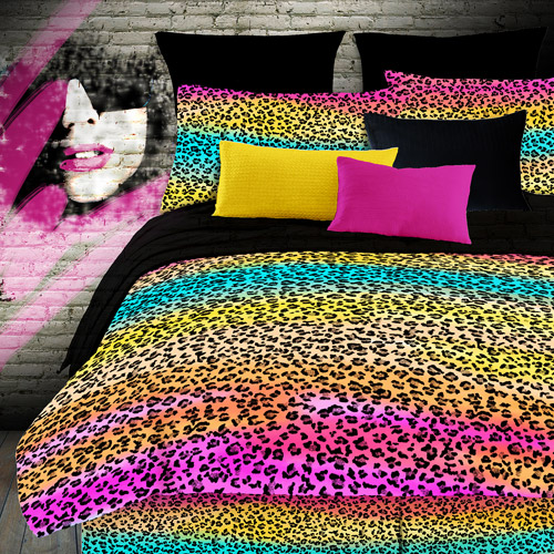 Veratex Street Revival Rainbow Leopard Sheet Set