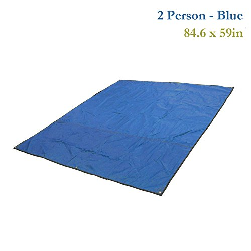 Multipurpose Waterproof Tent Tarp Footprints Outdoor Camping Shelter Canopy Cover Blanket Mat(Blue 7x5 ft) by