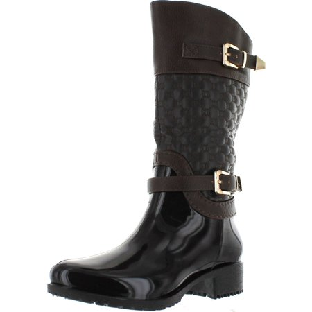 LInk FATIMA-27K Kids Girls Link Knee High Side Zip Riding Winter Rain Boots