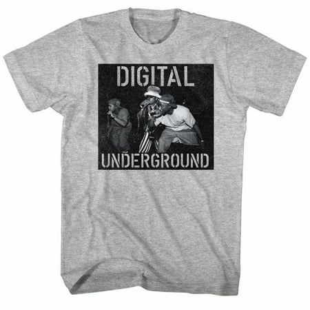Digital Underground Music Mic On Stage Adult Short Sleeve T Shirt (Underground Chicago Halloween)