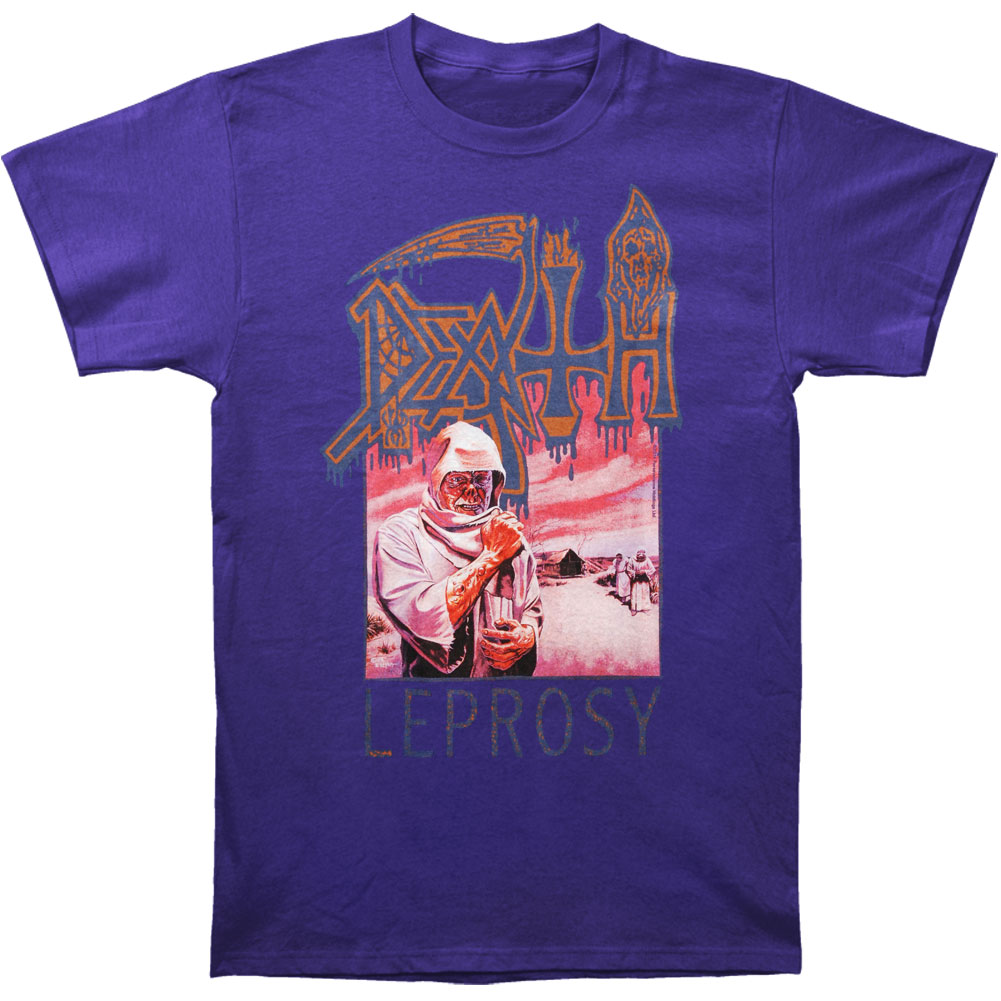 Death Men's  Leprosy Purple T-shirt Purple