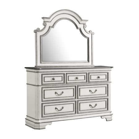Picket House Furnishings Caroline 7-Drawer Dresser with Mirror Set