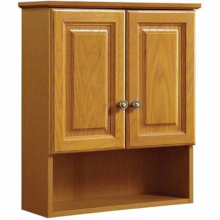 design house 531962 claremont honey oak wall cabinet with