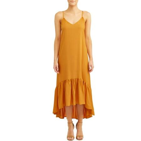 Love Sadie Women's Ruffle Maxi Dress 70s Black Maxi Dress