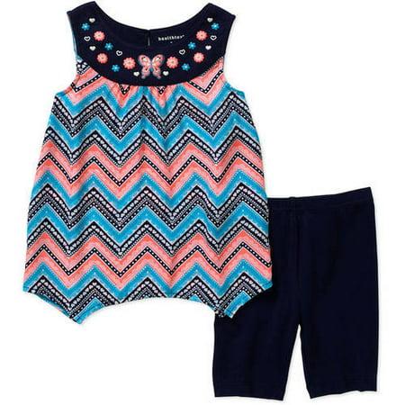 7b00ec812 Healthtex Baby Toddler Girl Fashion Tank & Shorts 2 Pc Outfit Set As ...