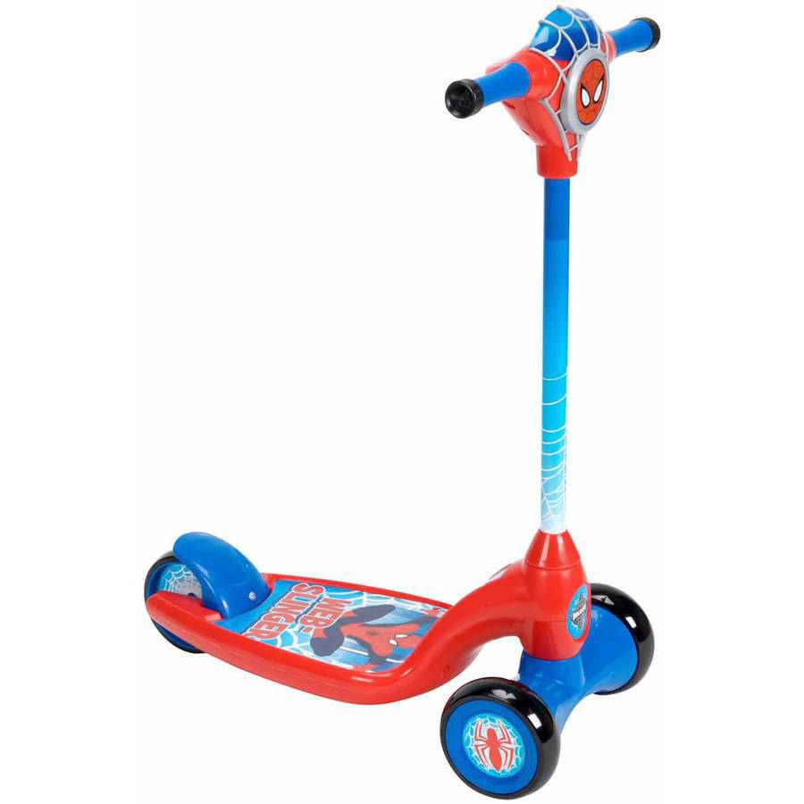 Huffy Boys' Marvel Ultimate Spider-Man Lights and Sounds Preschool Scooter by Huffy