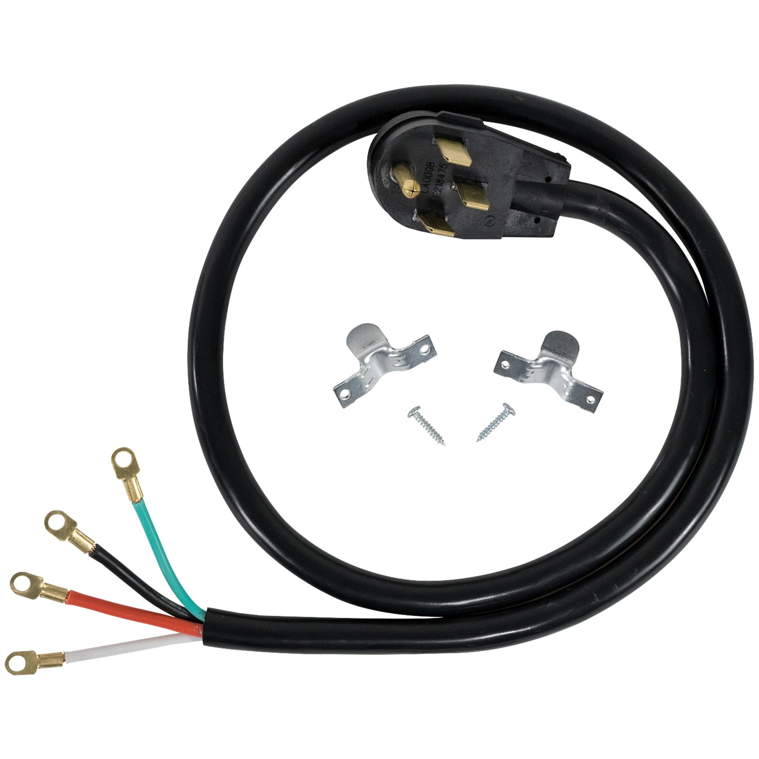 Certified Appliance Accessories 90-2062 4-Wire Closed-Eyelet 40-Amp Range Cord, 5ft