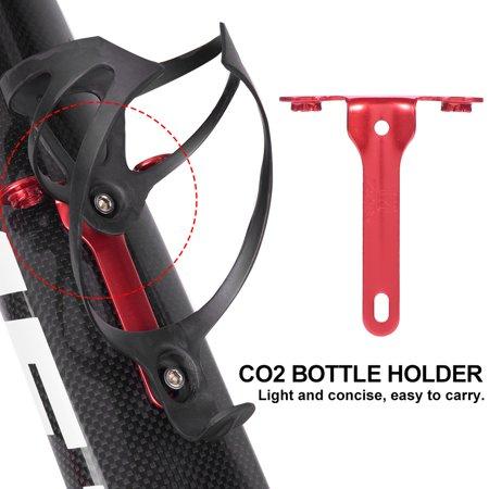Bike CO2 Holder,Ymiko Road Mountain Bike Inflating Bracket Bicycle CO2 Cartridge Holder Riding