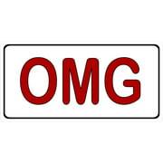 omg photo license plate