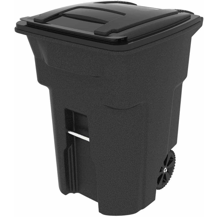 Toter 96 Gallon 2-Wheel Trash Can Cart, Blackstone
