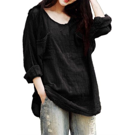 Blouses for Women Clearance Long Sleeve Round Neck Loose Casual