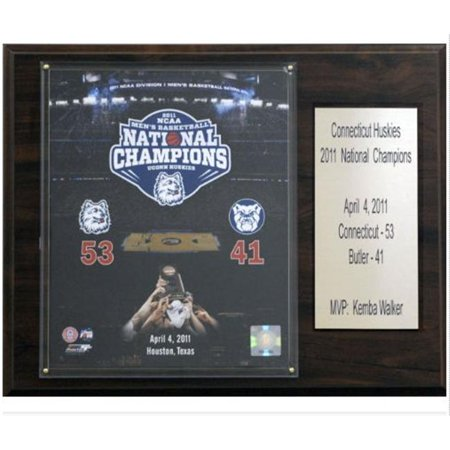 C&I Collectables NCAA Basketball 12x15 Connecticut Huskies 2011 National Champions Plaque ()