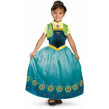 Anna Frozen Fever Deluxe Child Halloween - Frozen Anna Costume