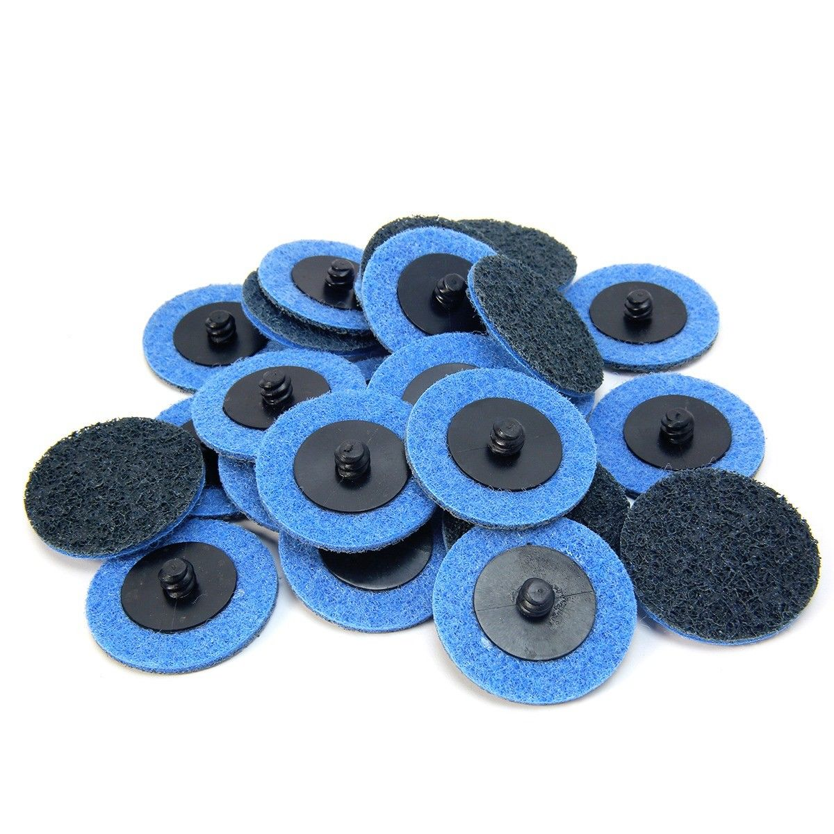"25Pc 2"" fine grit Roloc Cleaning Roll Lock Surface Conditioning Sanding Disc"