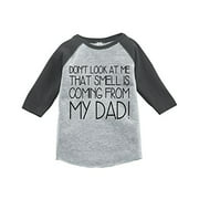 Custom Party Shop Boy's Father's Day Vintage Baseball Tee 4T Grey and Black
