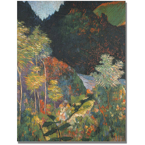 "Trademark Fine Art ""Landscape"" Canvas Art by Paul Gauguin"