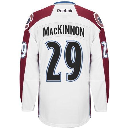 Nathan MacKinnon Colorado Avalanche Reebok Premier Away Player Jersey (White) XL by