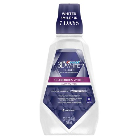 Crest Whitening Rinse Fresh Mint Mouthwash - 946