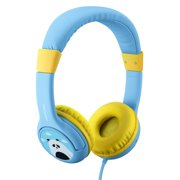 Mpow Kids Headphones, Wired On-Ear Headsets, Volume Limiting Headphones with SharePort and Microphone for iPad iPod iPhone Tablets Laptops Android Smartphones PC Computer (Blue)