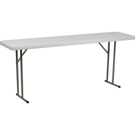 Flash Furniture Granite White Plastic Folding Training Table RB-1872-GG