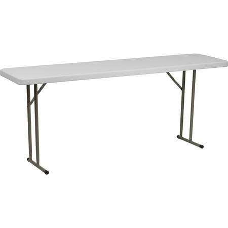 Flash Furniture Granite White Plastic Folding Training Table RB-1872-GG ()